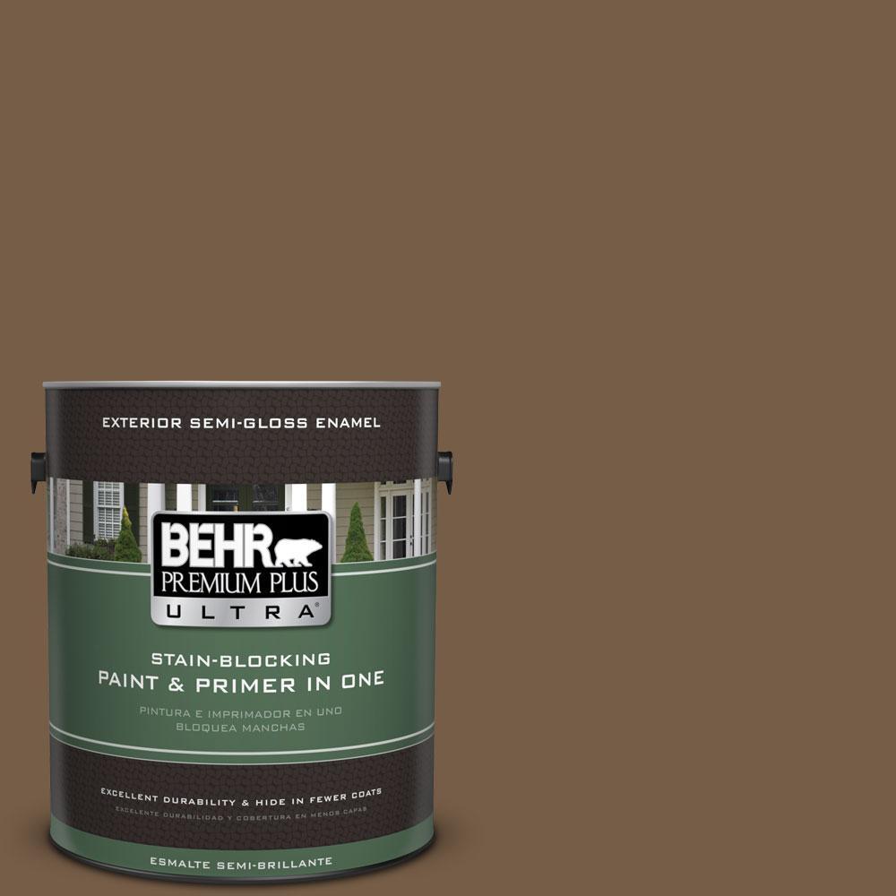 BEHR Premium Plus Ultra 1-gal. #700D-7 South Kingston Semi-Gloss Enamel Exterior Paint
