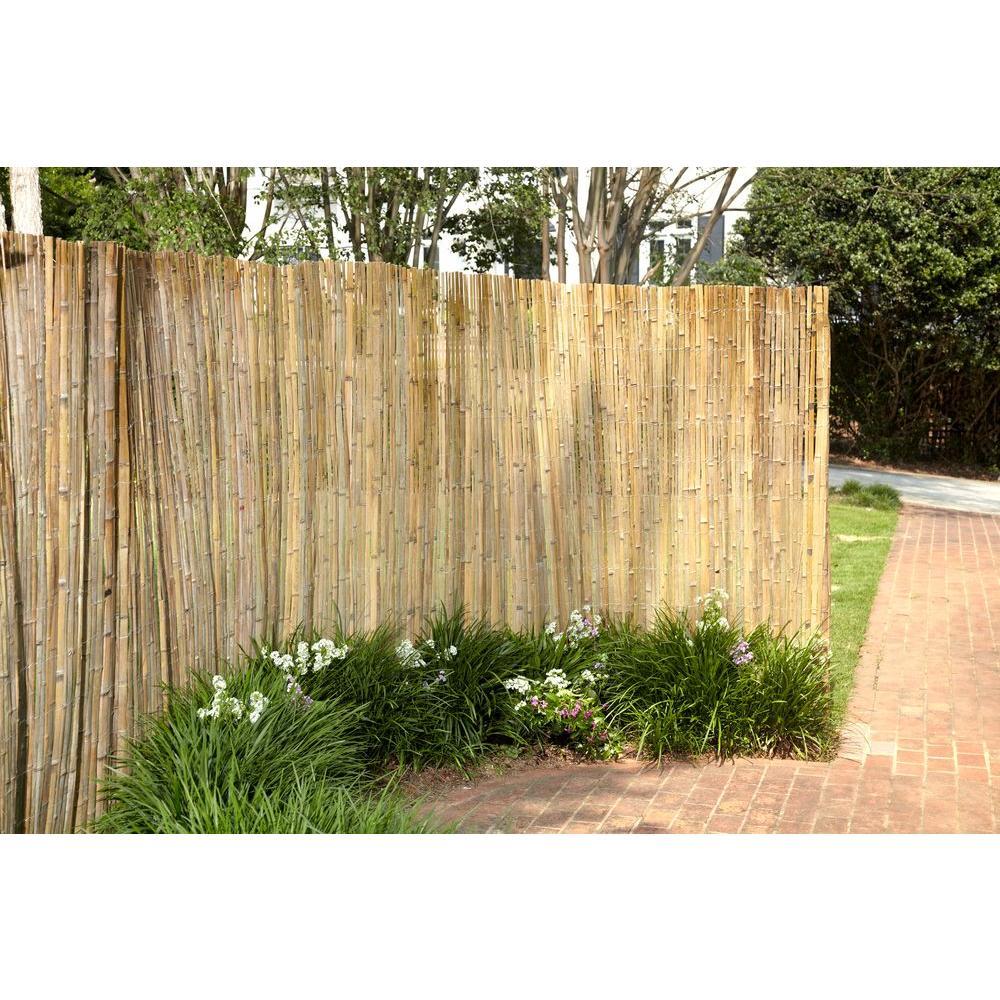 Peeled And Polisehd Reed Fence