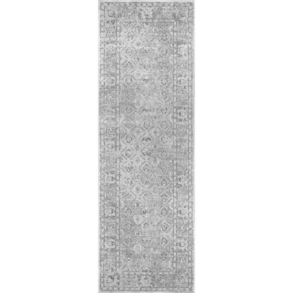 nuLOOM Herminia Vintage Trellis Gray 3