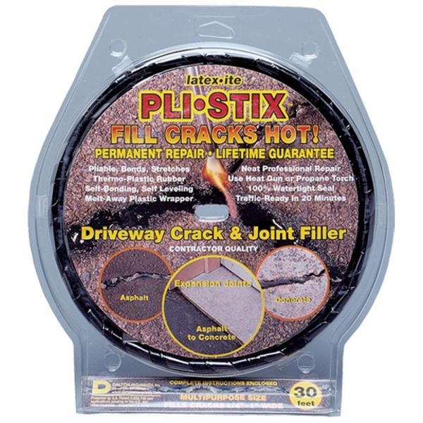 Latex Ite Pli Stix 30 Ft Medium Black Permanent Blacktop Joint And Crack Filler 35099 The Home Depot