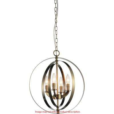 Delroy 4-light chrome chandelier