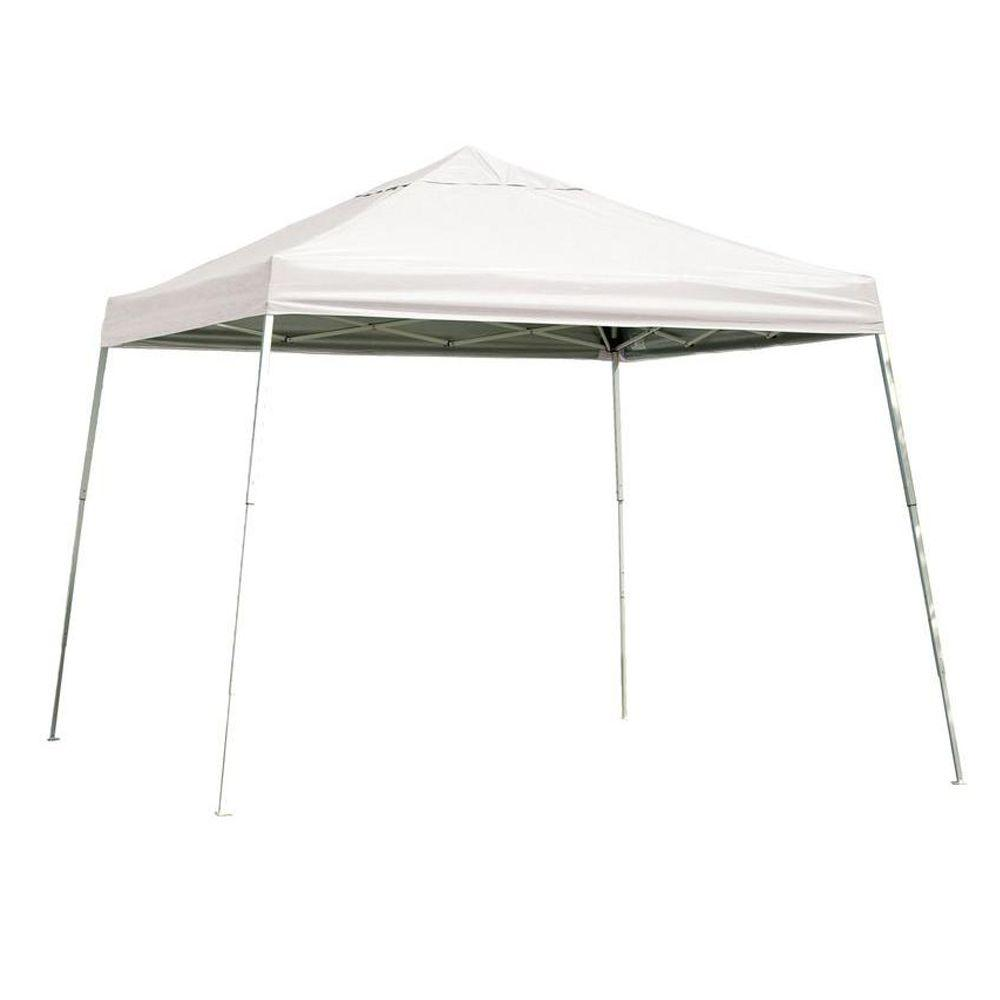 Sports Series 12 ft. x 12 ft. White Slant Leg Pop-Up Canopy  sc 1 st  Home Depot & ShelterLogic Sports Series 12 ft. x 12 ft. White Slant Leg Pop-Up ...