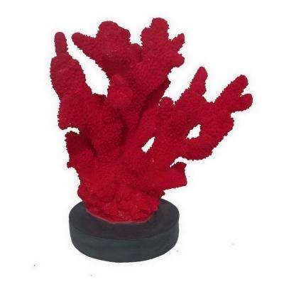 11 in. Three Hands Decorative Resin Coral - Red In Red