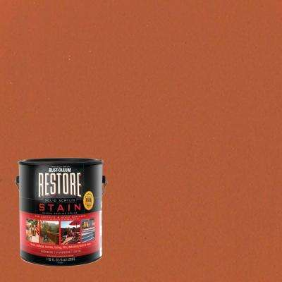 1 gal. Solid Acrylic Water Based Cedartone Exterior Stain