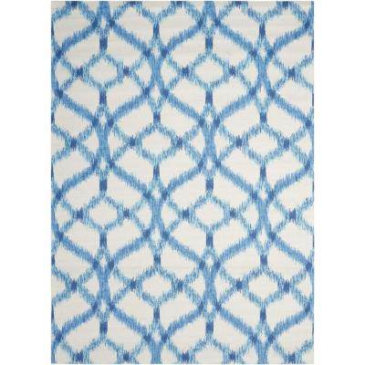 Izmir Ikat Aegean 8 ft. x 11 ft. Moroccan Bohemian Indoor/Outdoor Area Rug