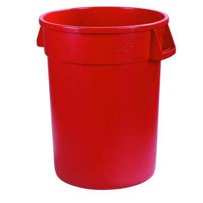 Bronco 44 Gal. Red Round Trash Can (3-Pack)