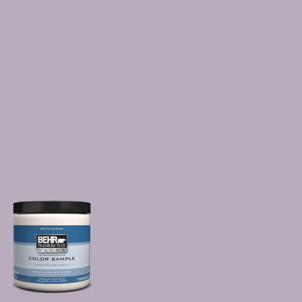 BEHR Premium Plus Ultra 8 oz. #hdc-SP14-12 Exclusive Violet Interior/Exterior Satin Enamel Paint Sample