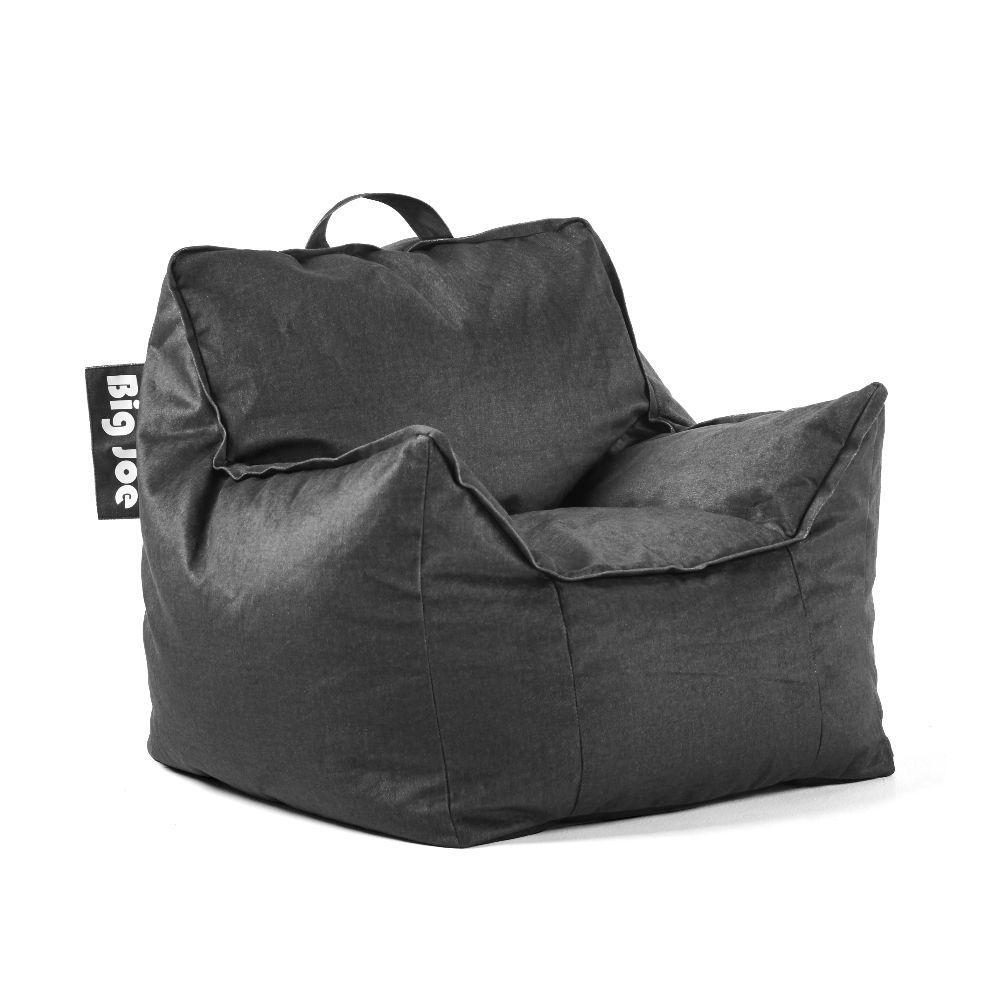 Big Joe Kids Mitten Chair Black Lenox Bean Bag 0925655