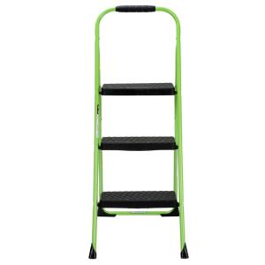 3step steel big step folding step stool type 3 with rubber hand grip in