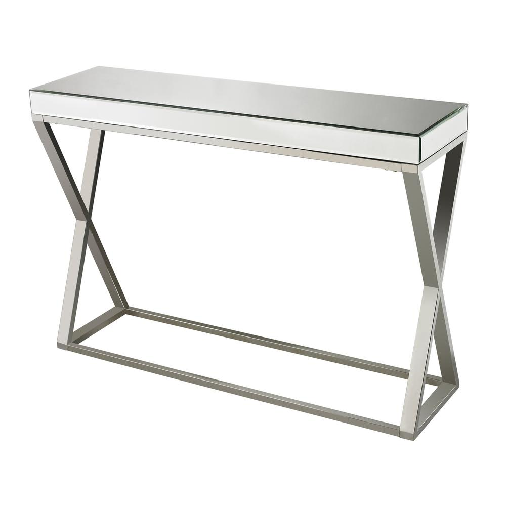 Charmant Titan Lighting Klein Mirror And Stainless Steel Console Table
