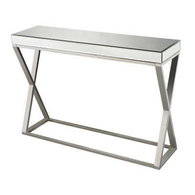 Klein Mirror And Stainless Steel Console Table