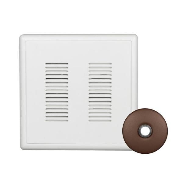 PrimeChime Plus 2 Video Compatible Wired Door Bell Chime Kit with Architectural Bronze Stucco Button
