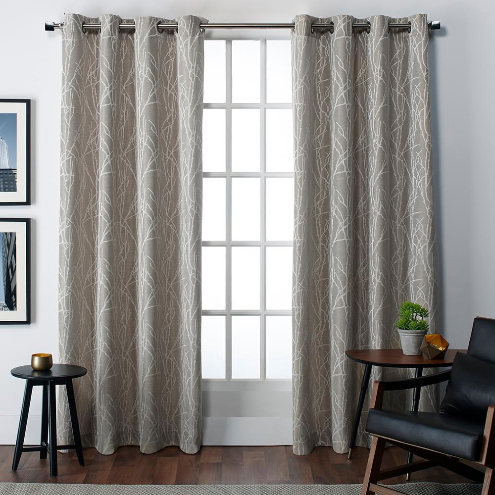 Finesse Natural Grommet Top Window Curtain