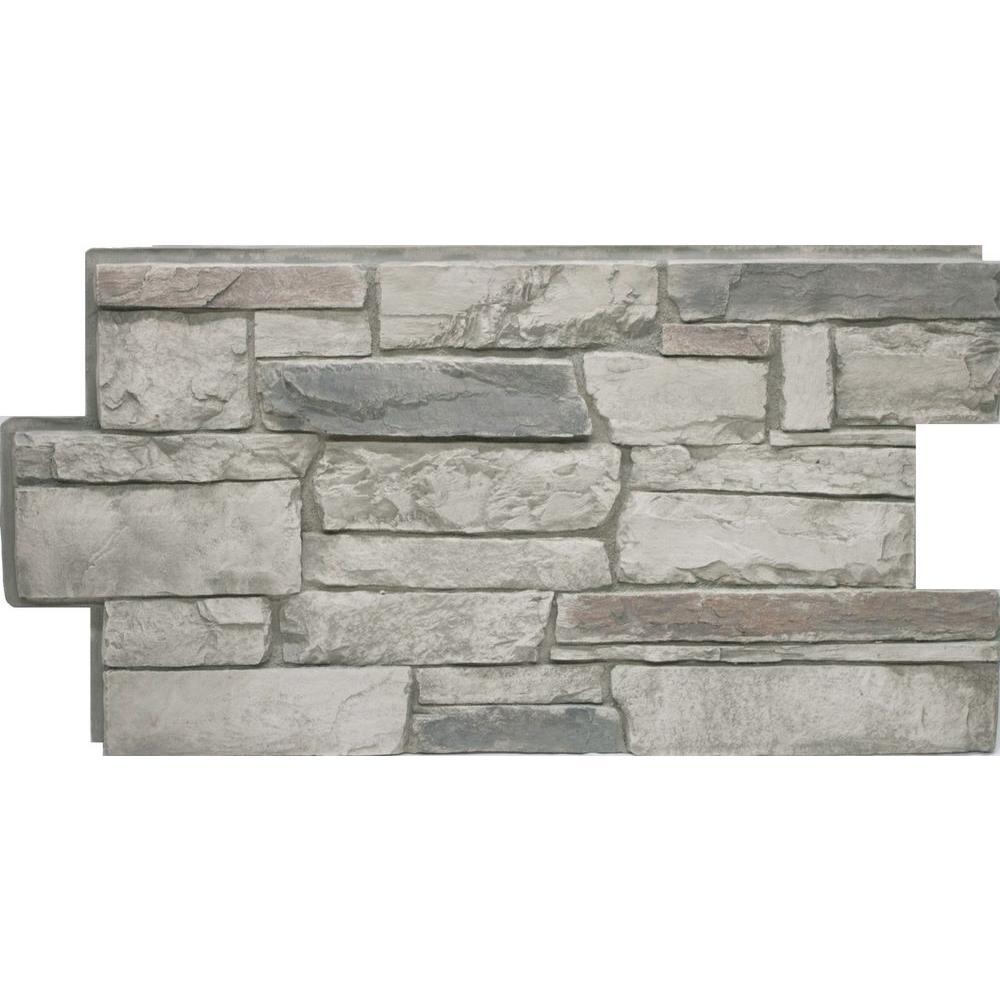 Stone Veneer Panels Home Depot : Urestone ledgestone cascade canyon in