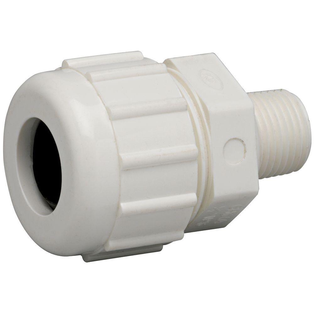 1 in. PVC Compression x Male Repair Adapter