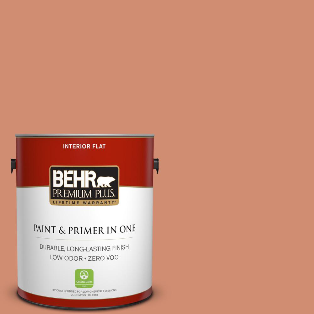 BEHR Premium Plus 1-gal. #ICC-63 Terra Cotta Pot Zero VOC Flat Interior Paint