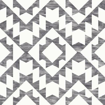 Fantine Black Geometric Paper Strippable Wallpaper (Covers 56.4 sq. ft.)
