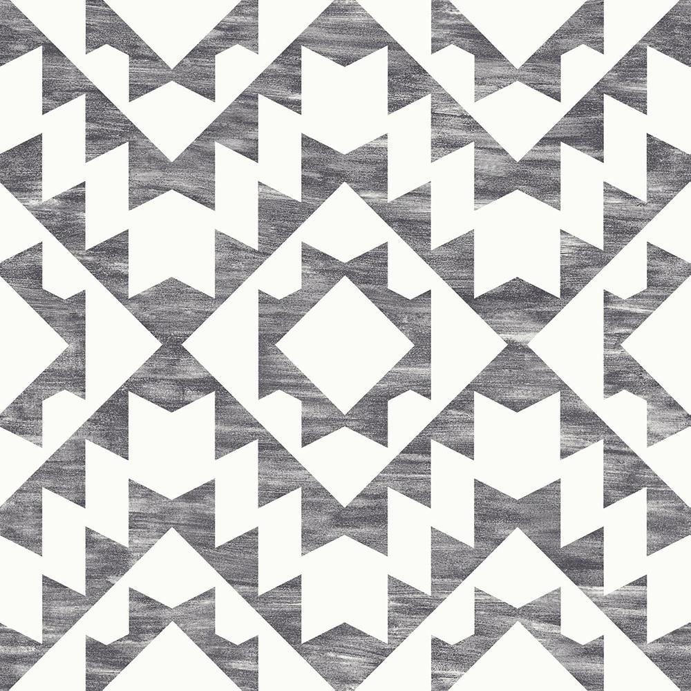 56.4 sq. ft. Fantine Black Geometric Strippable Wallpaper