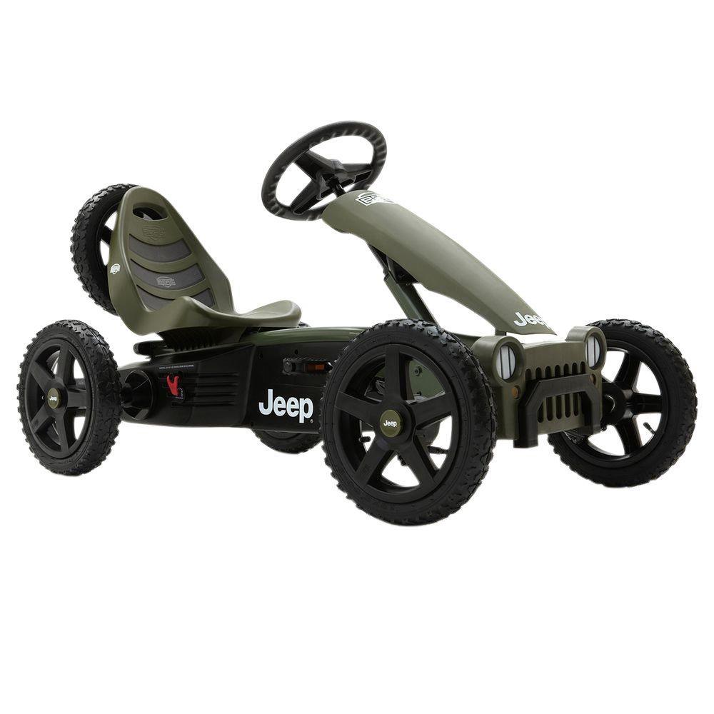 BERG Jeep Adventure Pedal Cart, Greens