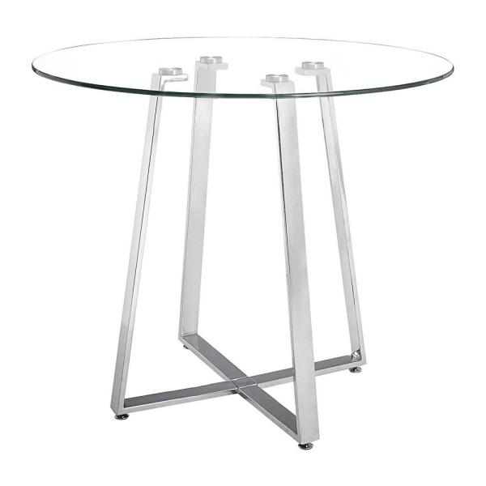 Lemon Chrome Drop Counter Table