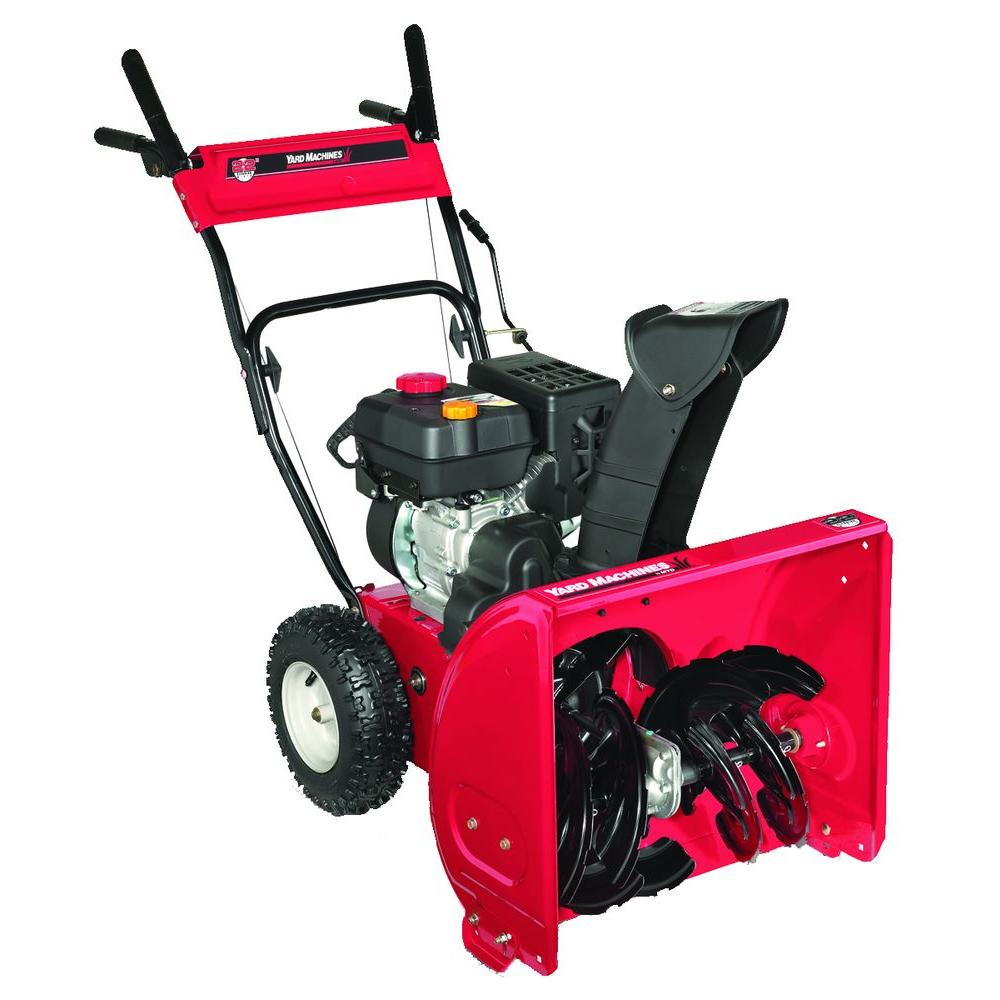 Yard Machines 22 in. Two-Stage Gas Snow Blower-DISCONTINUED