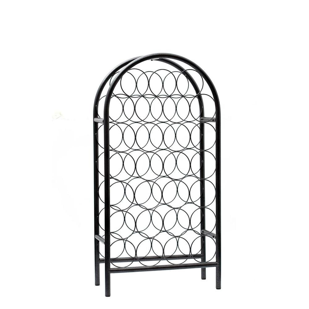 Old Dutch 17 in. x 8 in. x 33.75 in. 27 Bottle Pewter Classic Arch Wine Rack, RTA-DISCONTINUED