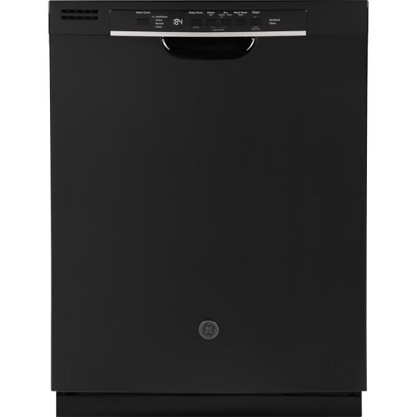24 in. Front Control Built-In Tall Tub Dishwasher in Black with Steam Prewash, 54 dBA