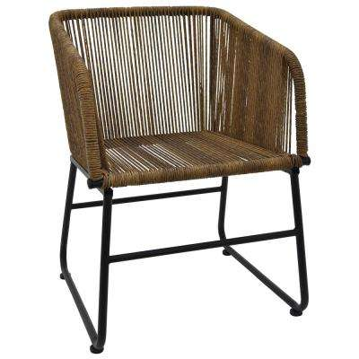 30.5 in. Brown Metal Chair