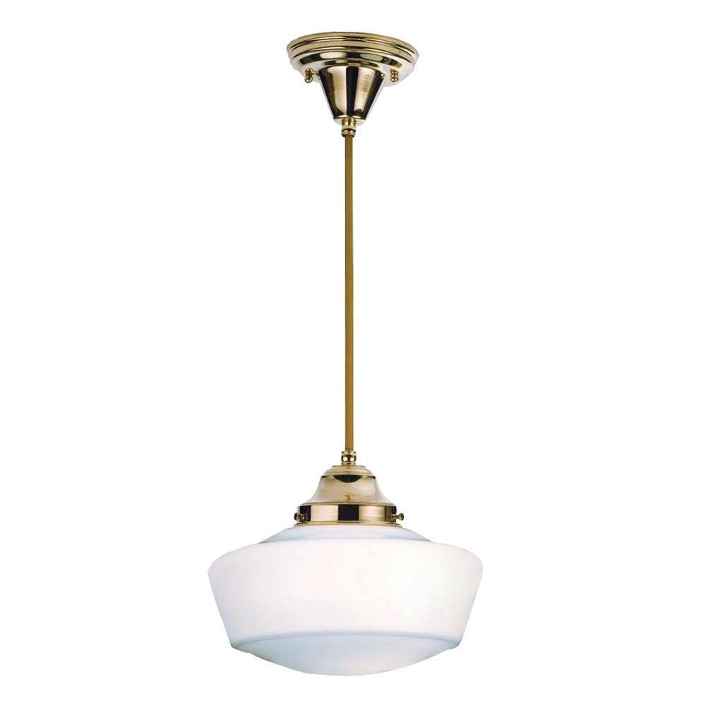 Illumine 1 Light Schoolhouse w/Traditional Globe Pendant Polished Brass Finish