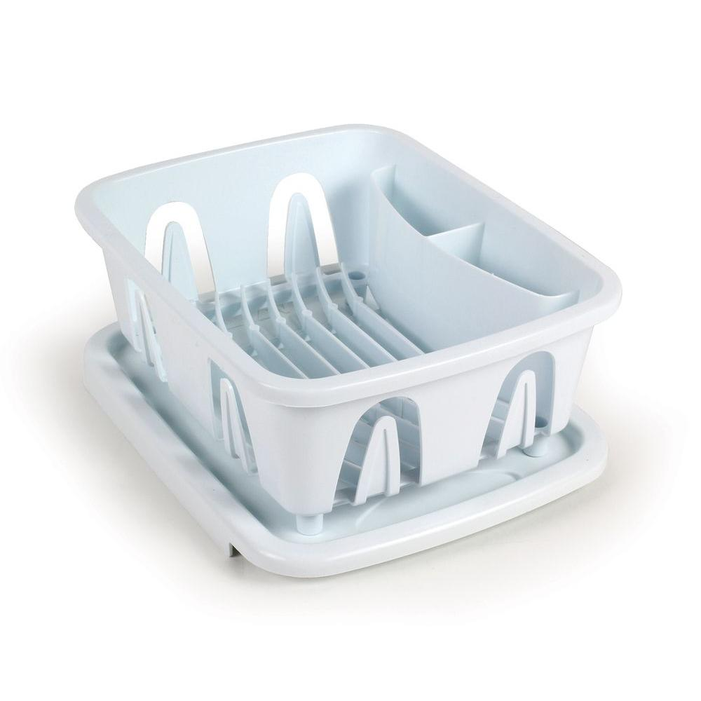 Camco Mini Dish Drainer And Tray In White 43511 The Home Depot