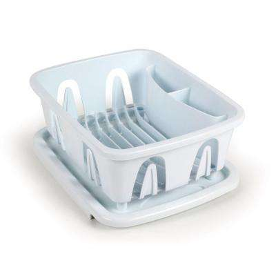 Mini Dish Drainer and Tray in White