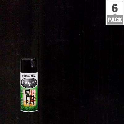 11 oz. Gloss Black Lacquer Spray (6-Pack)