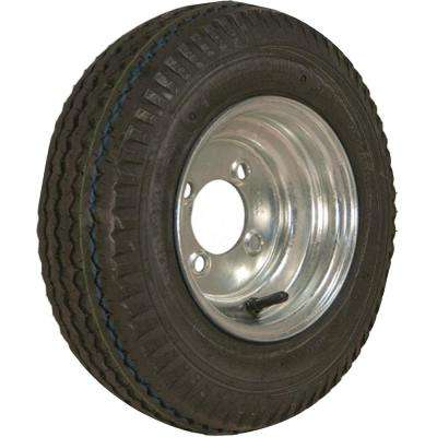 480-8 K371 590 lb. Load Capacity Galvanized 8 in. Bias Tire and Wheel Assembly