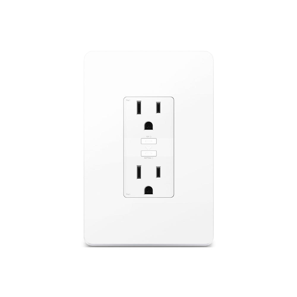 Kasa 2-Outlet Smart Wi-Fi Power Outlet, White