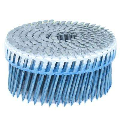 2.25 in. x 0.092 in. 15-Degree Smooth Hot Dip Plastic Sheet Coil Siding Nail 3,200 per Box