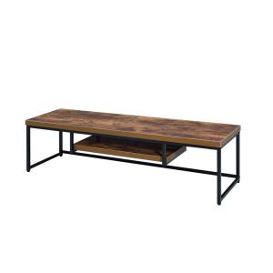 Acme Furniture Bob Weathered Oak And Black Tv Stand 91782 The Home