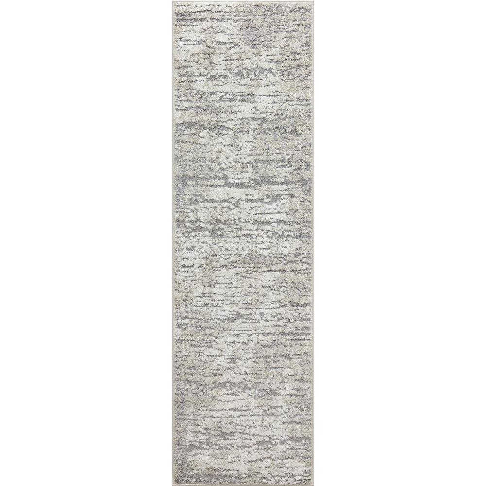 Concord Global Trading Charlotte Collection Studio Ivory 2 ft. x 7 ft. 3 in. Runner Rug