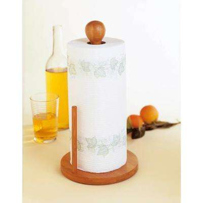 Bamboo Standing Paper Towel Holder