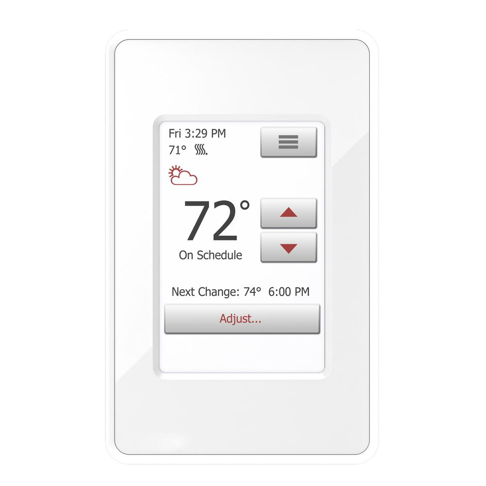 WarmlyYours nSpire Touch Programmable Thermostat with Floor Sensor