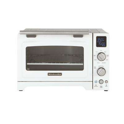 2000 W 4-Slice White Convection Toaster Oven with Non-Stick Pan, Broiling Rack and Cooling Rack
