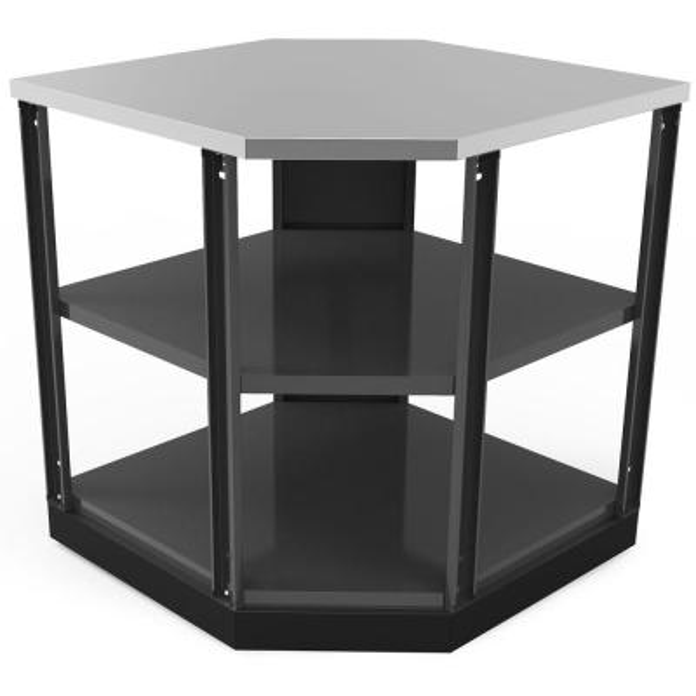 Slate Gray 90 Degree Corner 45.8 in. W x 36.5 in. H x 35 in. D Outdoor Kitchen Shelf Cabinet