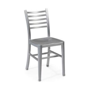 Merveilleux Home Decorators Collection Catarina Brushed Aluminum Side Chair 2476300440    The Home Depot
