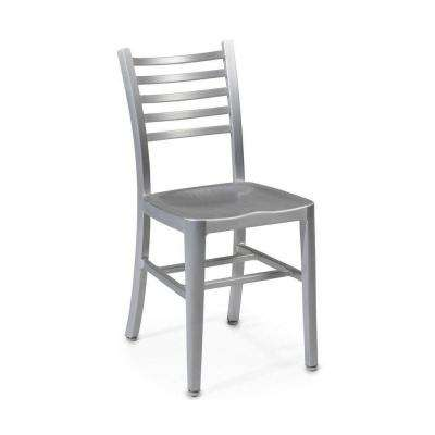 Catarina Brushed Aluminum Side Chair