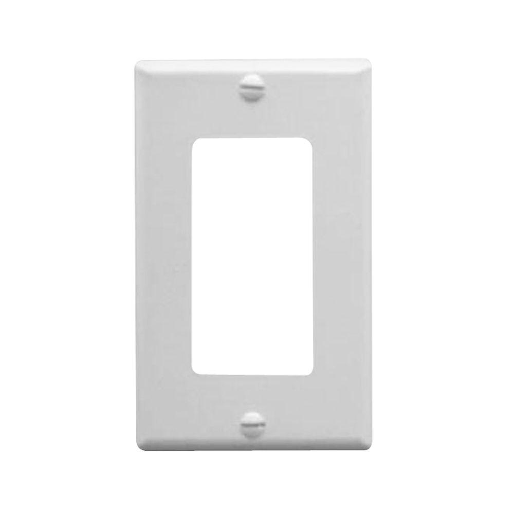 1 gang wall switch plate white