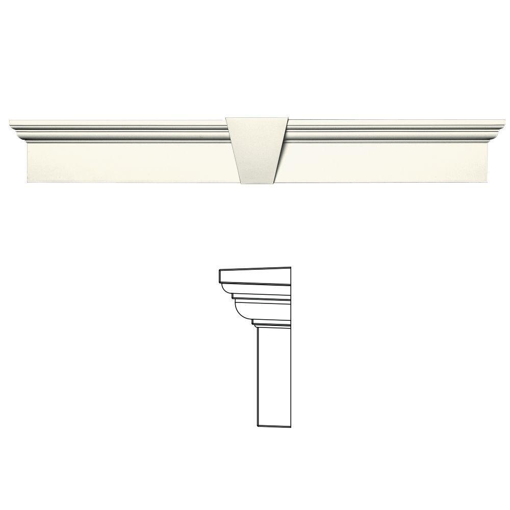 6 in. x 43-5/8 in. Flat Panel Window Header with Keystone