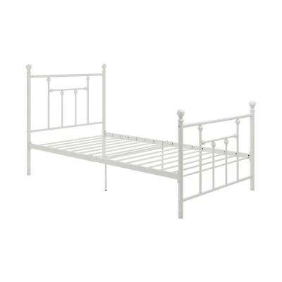Mia White Twin Size Metal Bed Frame