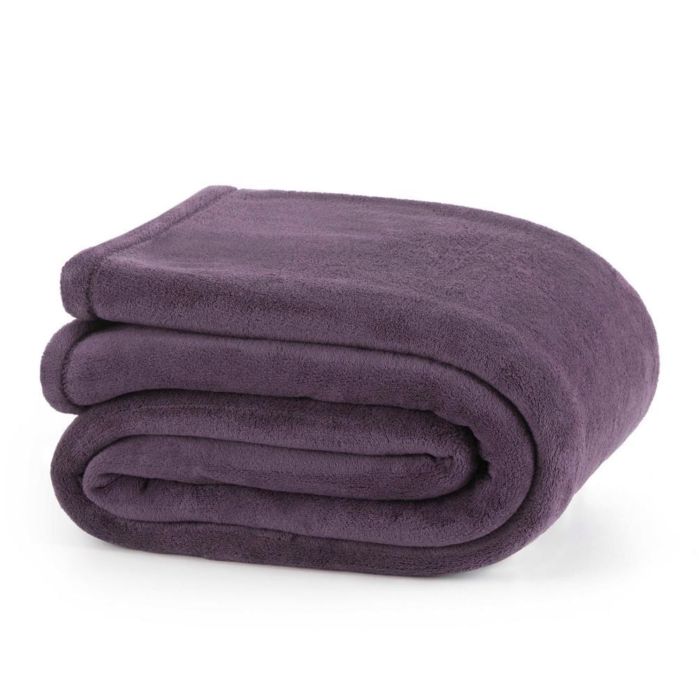 Plush Plum Polyester King Blanket