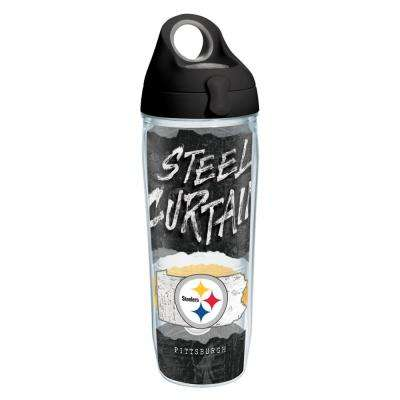 NFL Pittsburgh Steelers Statement 24 oz. Double Walled Insulated Water Bottle