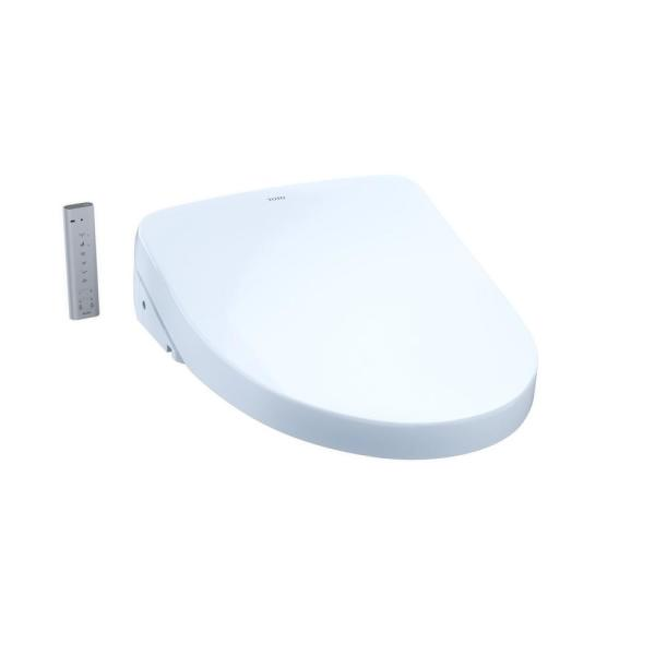 S550e WASHLET Electric Bidet Seat for Elongated Toilet with Contemporary Lid in Cotton White
