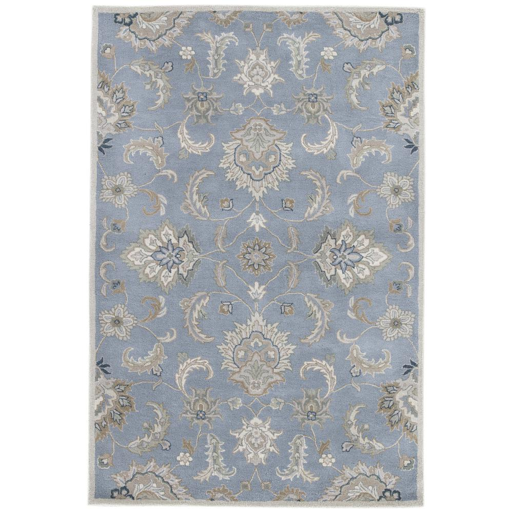 Mythos Blue 2 ft. x 3 ft. Floral Rectangle Accent Rug